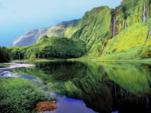Azores lakes and islands