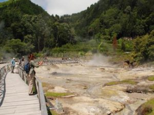 Furnas thermal hot springs