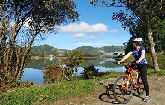 Cycling By Sete Cidades Lakes Azores