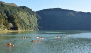 Sete Cidades lake kayaking Azores