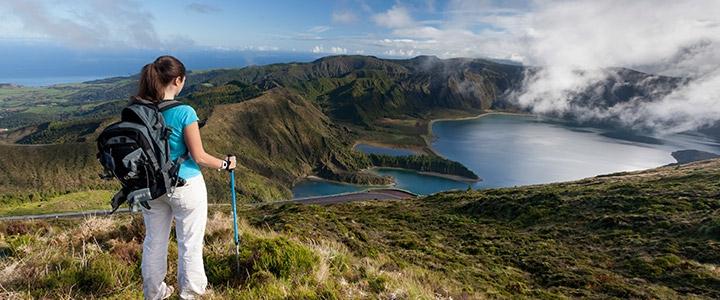 Hiking holidays Azores Lagoa do fogo